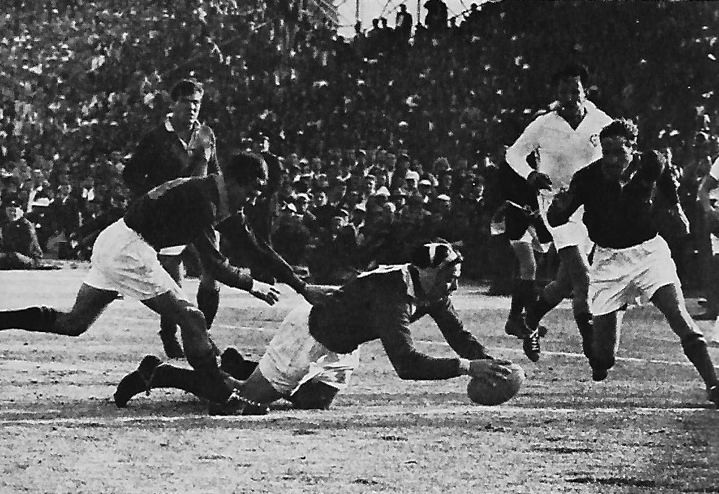 _ The last try of the 1962 Lions tour. Mike Campbell-Lamberton scoring a consolation try for the Lions.
